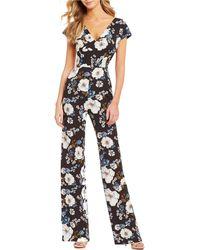 f65fbd31b767 Gianni Bini - Harper Floral Print V-neck Jumpsuit - Lyst