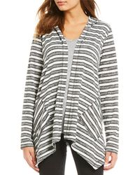 Vince Camuto - Long Sleeve Striped Cardigan - Lyst