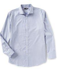 Murano - Liquid Luxury Chevron Long-sleeve Woven Shirt - Lyst