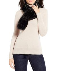 Parkhurst - Faux-fur Pull-through Scarf - Lyst