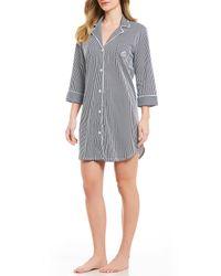 Lauren by Ralph Lauren - Classic Notch Collar Sleepshirt - Lyst