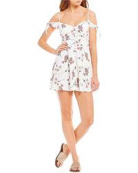 Flynn Skye - Bodhi Cold Shoulder A-line Mini Dress - Lyst