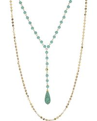 Panacea - Turquoise Pre Layered Y Necklace - Lyst