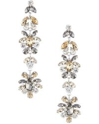 Cezanne - Deco Linear Statement Earrings - Lyst
