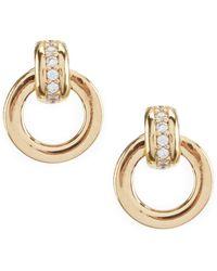 Nadri - Door Knocker Stud Earrings - Lyst
