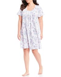 Carole Hochman - Plus Jersey Short Gown - Lyst