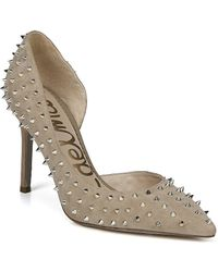 65a759c9474923 Lyst - Sam Edelman Lorissa Suede Shoes With Spike And Diamante ...