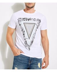 Guess - Short-sleeve Maze Triangle Tee - Lyst