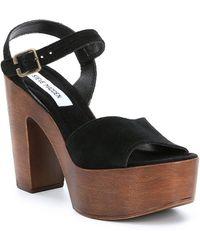 Steve Madden - Lulla Suede Platform Block Heel Sandals - Lyst