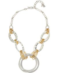 Robert Lee Morris - Wire-wrapped Hammered Circle Frontal Necklace - Lyst
