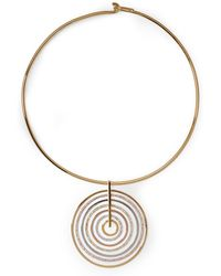 Vince Camuto - Circle Pave Statement Collar Necklace - Lyst