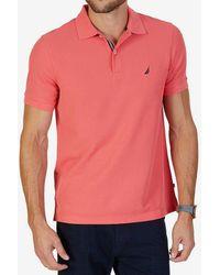 Nautica - Big & Tall Solid Anchor Deck Short-sleeve Polo Shirt - Lyst