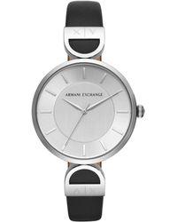 Armani Exchange - Brooke Black Strap Watch - Lyst