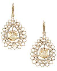 Marchesa - Pear Drop Earrings - Lyst