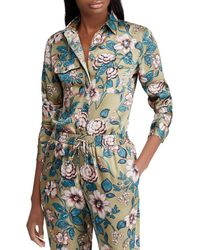 Lauren by Ralph Lauren - Floral Shirt With Two Pockets - Lyst