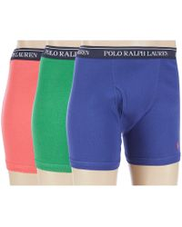 d80f869b018019 Polo Ralph Lauren Stretch Jersey Boxer Briefs in Blue for Men - Lyst