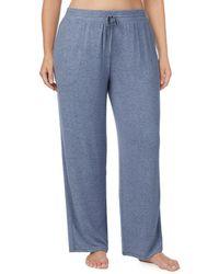Donna Karan - Plus Marled Sweater Jersey Knit Lounge Pants - Lyst