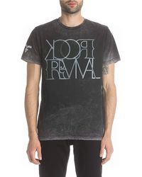 Rock Revival - Short-sleeve Overdyed Faded Logo T-shirt - Lyst