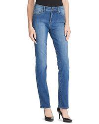 Lauren by Ralph Lauren - Petite Size Premier Straight Leg Curvy Jeans - Lyst