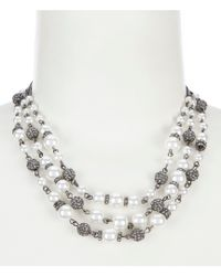 Givenchy - 3 Row Collar Necklace - Lyst