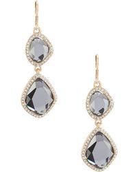 Belle By Badgley Mischka - Pave Stone Drop Earrings - Lyst