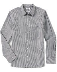 Calvin Klein - Slim-fit Bengal Stripe Long-sleeve Woven Shirt - Lyst