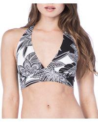 Lauren by Ralph Lauren - Graphic Floral Banded Halter Bra Swimsuit Top - Lyst