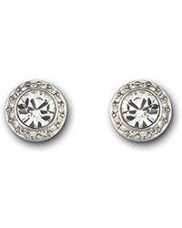 Swarovski - Angelic Pierced Stud Earrings - Lyst