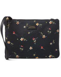 Lauren by Ralph Lauren - Double-zip Floral Cross-body Bag - Lyst
