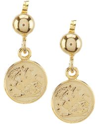 Argento Vivo - Coin Drop Earrings - Lyst