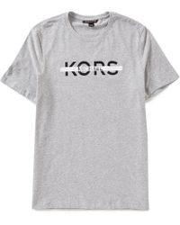 Michael Kors - Linear Logo Short-sleeve Graphic Tee - Lyst