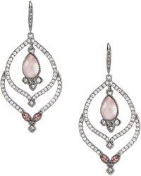 Jenny Packham - Rose Orbital Earrings - Lyst