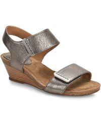 Söfft - Verdi Leather Wedge Sandals - Lyst