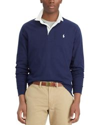 Polo Ralph Lauren - Iconic Solid Long-sleeve Rugby Shirt - Lyst
