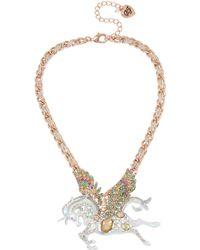 Betsey Johnson - Pegasus Pendant Necklace - Lyst