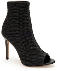 BCBGeneration - Jane Sock Peep Toe Booties - Lyst