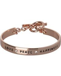 Bcbgeneration Bcbg Generation Love Peace Hiness Cuff Bracelet Lyst