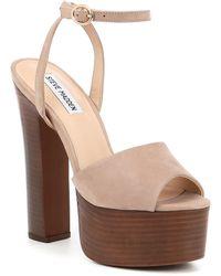 c719f13a7e12 Lyst - Steve Madden Marena Slingback Platform Sandal in Brown