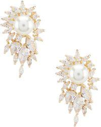 Anne Klein - Pearl Fireburst Stud Earrings - Lyst