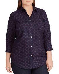 Lauren by Ralph Lauren - Plus Size No-iron Button Down Shirt - Lyst