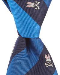 """Psycho Bunny - Traditional Stripe Narrow 3"""" Silk Tie - Lyst"""