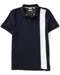 CALVIN KLEIN 205W39NYC - Slim-fit Color Block Stripe Short-sleeve Polo Shirt - Lyst
