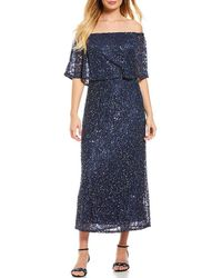 Pisarro Nights - Off The Shoulder Lace Midi Gown - Lyst