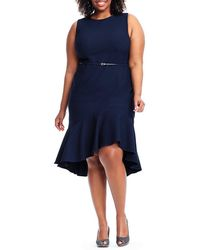 Adrianna Papell - Plus Size Structured Knit Trumpet Dress - Lyst