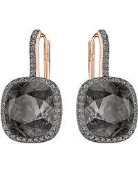 Swarovski - Lattitude Crystal Drop Earrings - Lyst