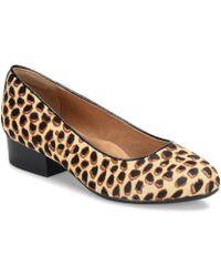 Söfft - Belicia Leopard Print Calf Hair Pumps - Lyst