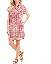 7e793732f40 Pendleton - Sunnyside Two Pocket Plaid Cap Sleeve Shirt Dress - Lyst