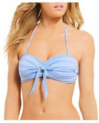 Cremieux - Montauk Stripe Bandeau Bikini Swimsuit Bra Top - Lyst