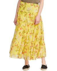 Lauren by Ralph Lauren - Floral Print Georgette Maxiskirt - Lyst