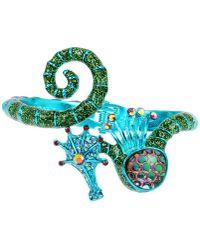 Betsey Johnson - Blue Seahorse Bangle Bracelet - Lyst